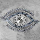 "Часы настенные, серия: Ажур, ""Майен"" 46х72 см, d=22 см, 1 АА, плавный ход - фото 7931231"