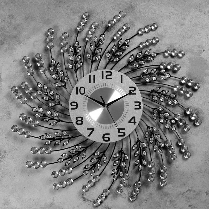 """Часы настенные, серия: Ажур, """"Майен""""  d=60 см, d=22 см, 1 АА, плавный ход - фото 7931234"""