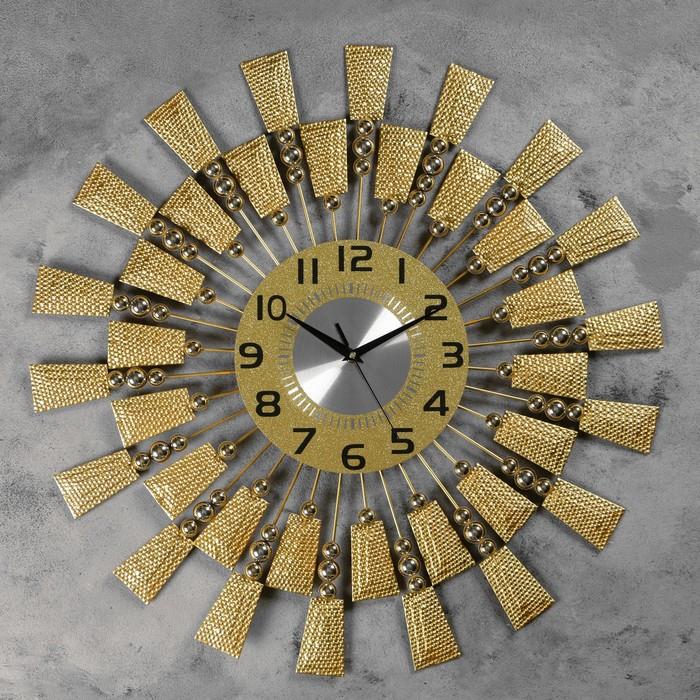"""Часы настенные, серия: Ажур, """"Борнаго"""", плавный ход, 60 х 60 см, d=22 см - фото 7931240"""