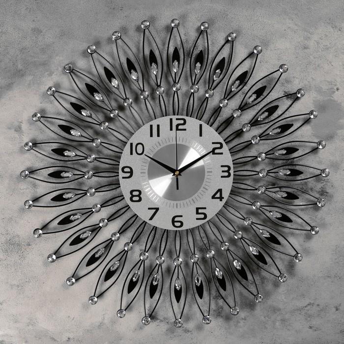 """Часы настенные, серия: Ажур, """"Пелинья""""  d=60 см, d=22 см, 1 АА, плавный ход - фото 7931246"""