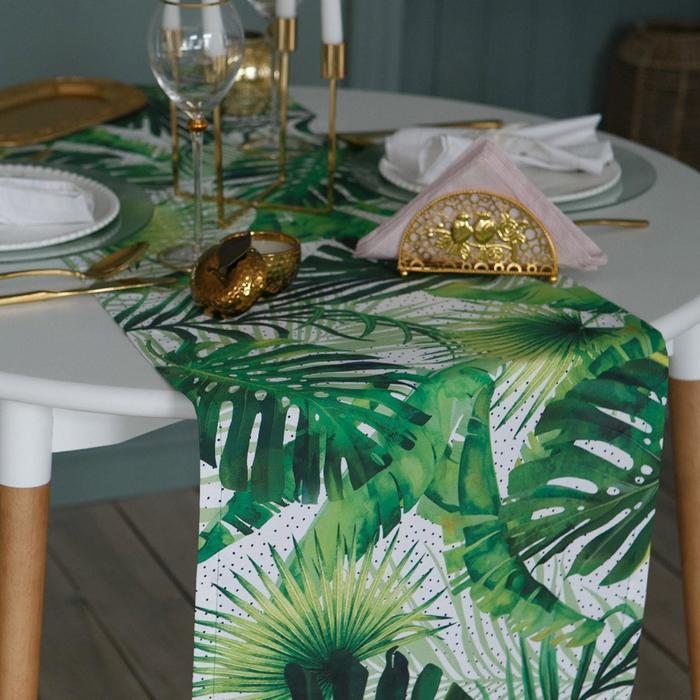 Дорожка на стол «Этель» Тропический рай 40х146 см - фото 486618