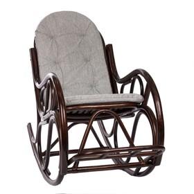 Кресло-качалка CLASSIC МИ с подушкой, цвет Орех (подушка)