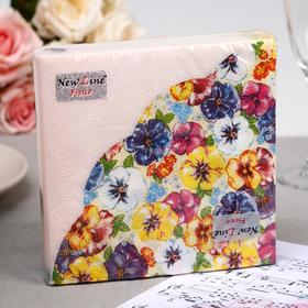 Салфетки бумажные New Line FRESCO «Виола», 2 слоя, 33*33 см, 20 шт.