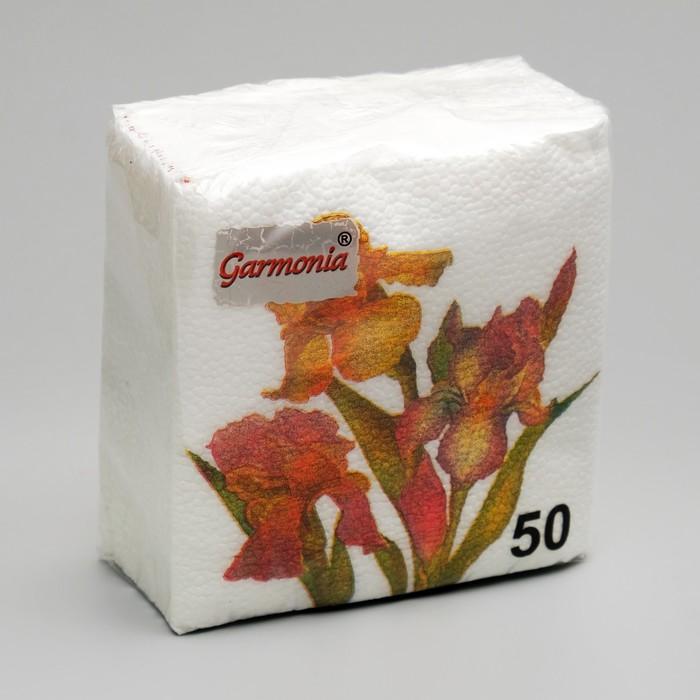 Салфетки бумажные «Гармония цвета. Ирисы», 50 шт.