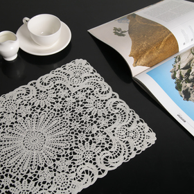 A napkin tracery Uyut 45x29 cm, color white