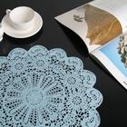 Салфетка ажурная «Уют», 38×38 см, цвет голубой - фото 486628