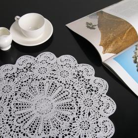 A napkin tracery Uyut 38h38 cm, color white