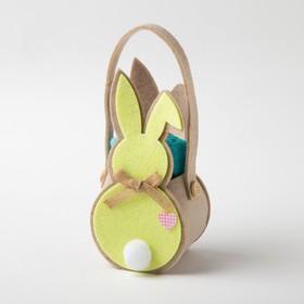 """Полотенце в корз. """"Жёлтый заяц"""" 30х30 см, 100% хлопок, 360 гр/м2"""