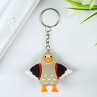 "Keychain rubber ""Chick with a backpack"" 5,5х5х2,2 cm"