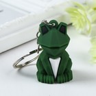 """Rubber keychain 3D """"Frog"""" 4,5x2,5x2,5 cm"""