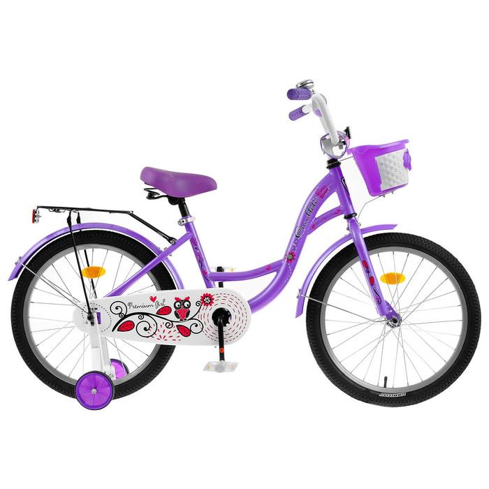 """Велосипед 20"""" Graffiti Premium Girl RUS, цвет фиолетовый"""
