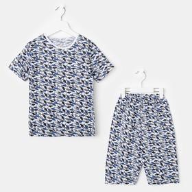 Комплект (футболка, штанишки) для мальчика, цвет микс, рост 80-86 см (26)