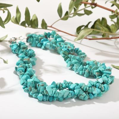 Beads baby, 3 rows Turquoise, 45cm