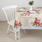 "The oilcloth a dining room non-woven fabric (roll 10 tablecloths 137х183 cm) ""Peace"""