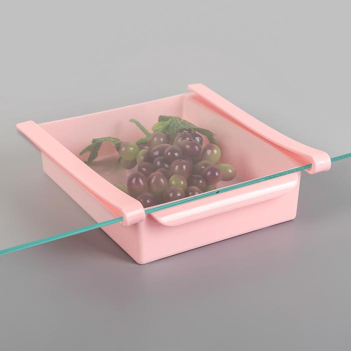 Полка подвесная в холодильник, 22×20×7 см, цвет МИКС - фото 486764