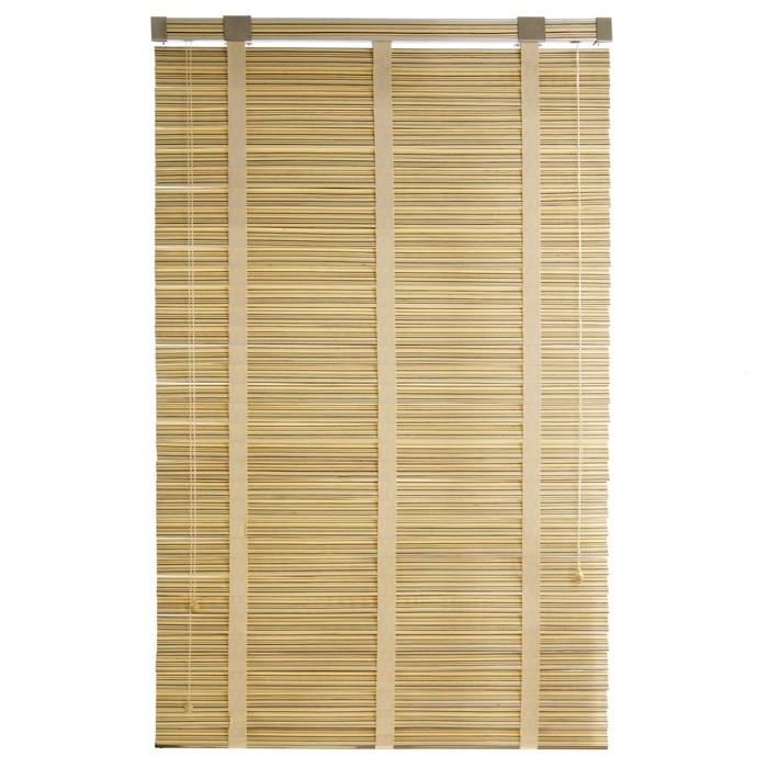 Деревянные жалюзи, размер 80х160 см, цвет зебрано белое