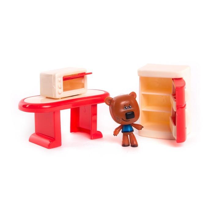 Игровой набор «Кеша», столовая комната, с 3 деталями интерьера