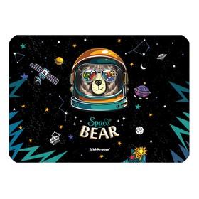 Накладка на стол пластик А4, 297 х 210 мм, 550 мкм, Space Bear Ош
