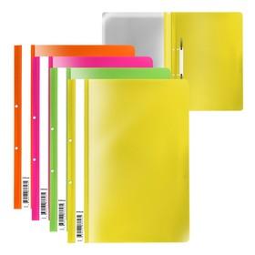 A4 folder-folder ErichKrause Fizzy Neon with perforation, mix 50061