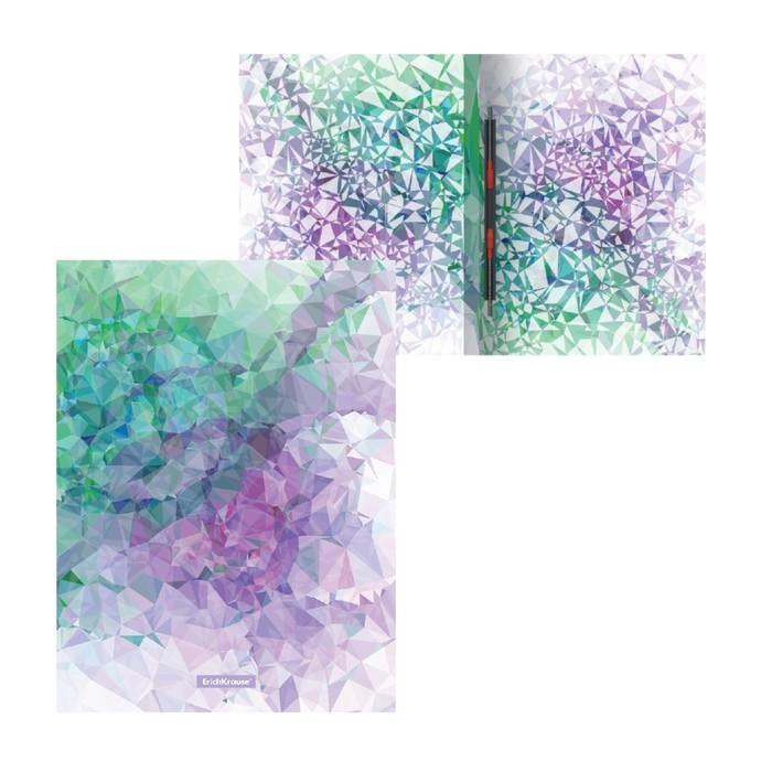 """Папка с пружинным скоросшивателем А4 ErichKrause """"Violet Dynamique"""", 17 мм, 550 мкм, с рисунком"""