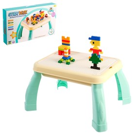 Развивающий столик 2 в 1 «Строй и учись», стол для конструктора, парта