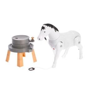 Развивающая игрушка «Лошадка», ходит по кругу, МИКС