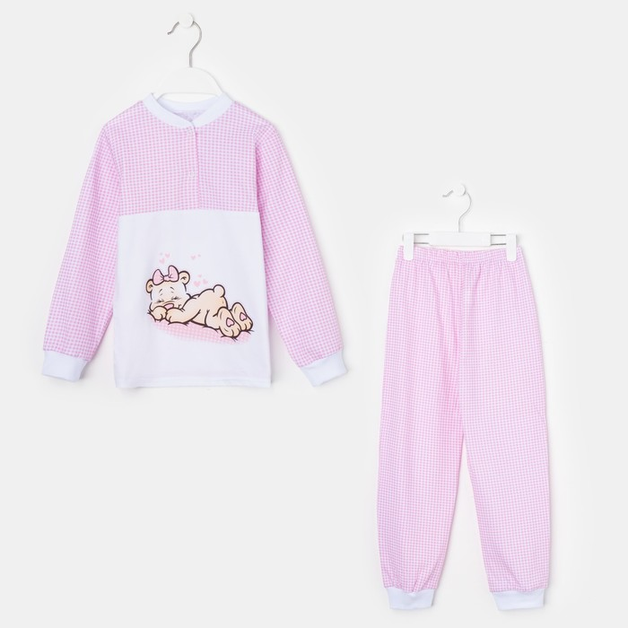 Пижама для девочки «Сладкий сон», цвет розовый, рост 116 см (34)