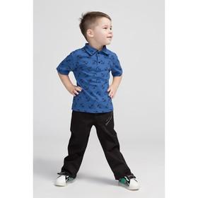 Футболка-поло для мальчика «Якорь», цвет синий, рост 116 см (34)