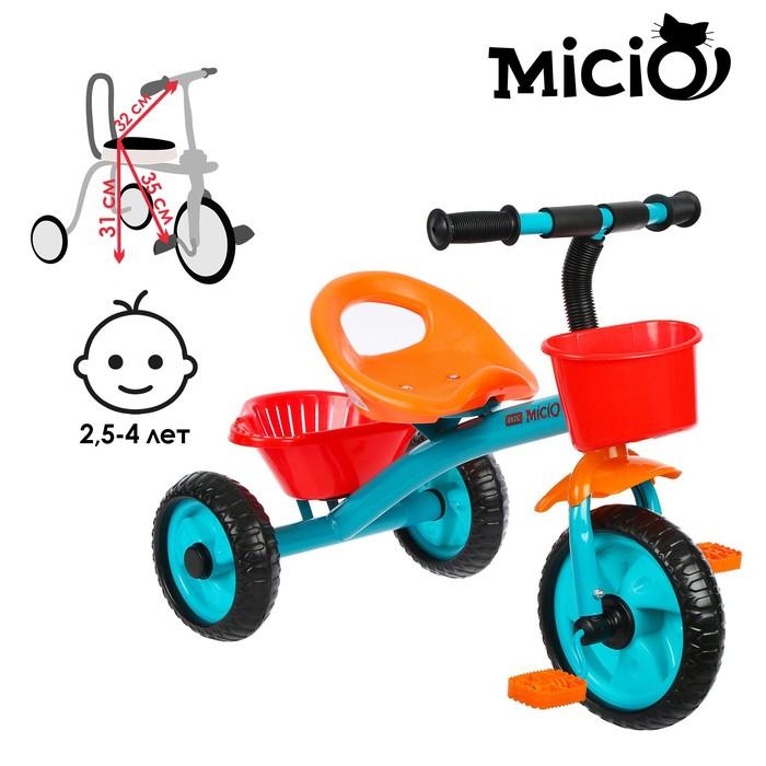 Велосипед трехколесный Micio Antic, цвет бирюзовый/оранжевый/красный