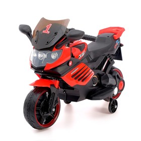 Электромобиль «Спортбайк», цвет красный