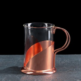 "Mug ""Luxury"" of 200 ml, 10x7,5x10 cm color: bronze"