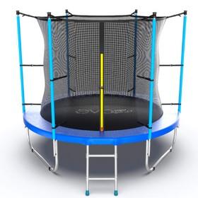 Батут EVO JUMP Internal 8 ft, d=244 см, с внутренней защитной сеткой и лестницей, синий