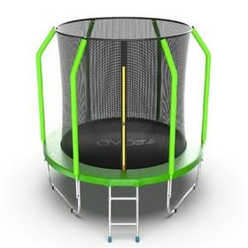 Батут EVO JUMP Cosmo 6 ft, d=183 см, с внутренней сеткой и лестницей, зелёный
