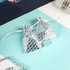 "Gift pouch ""Geometry"" 7*9, color white with silver"