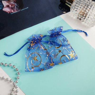 "Pouch gift ""Constellations"" 7*9, color blue with gold"