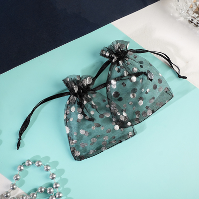 "Pouch gift ""Bubbles"" 7*9, color black with silver"