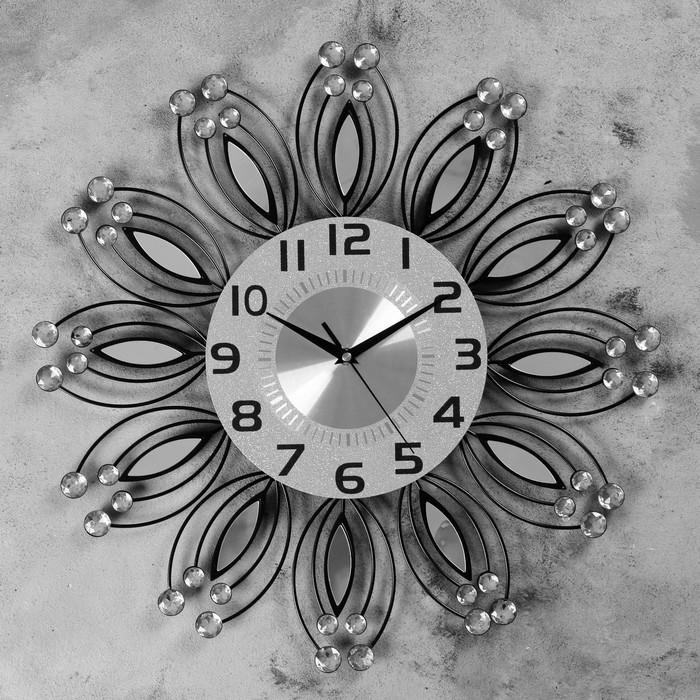 """Часы настенные, серия: Ажур, """"Кэлэраши"""" d=50 см, d=22 см, 1 АА, плавный ход - фото 7931249"""