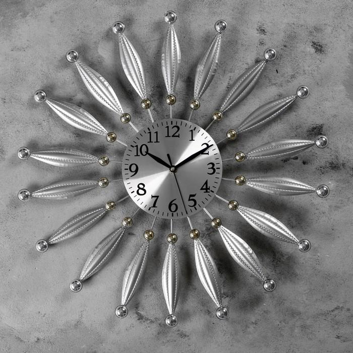 """Часы настенные, серия: Ажур, """"Леза"""" d=50 см, d=15.5 см, 1 АА, плавный ход - фото 7931252"""