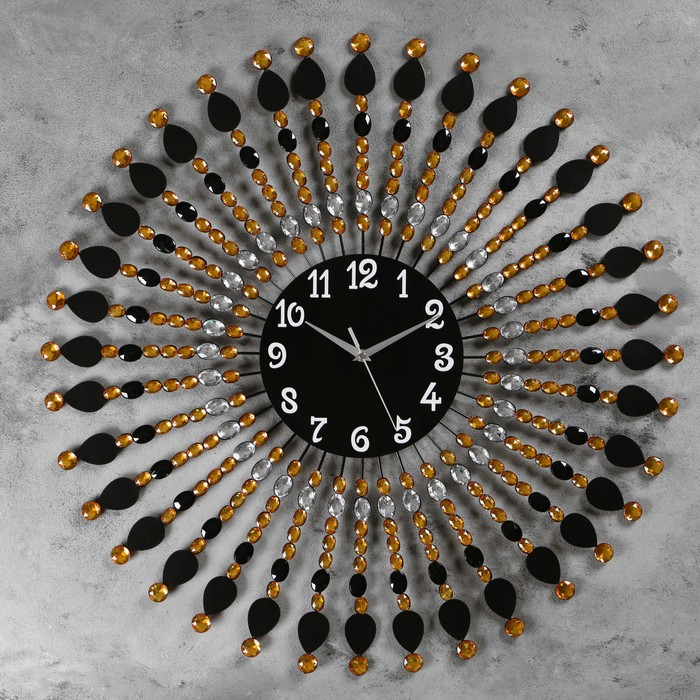 """Часы настенные, серия: Ажур, """"Ронда""""  d=70 см, d=22 см, 1 АА, плавный ход - фото 7931267"""