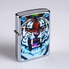 """Lighter """"Tiger"""" in metal box, with silicon, petrol"""