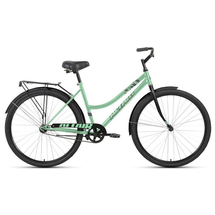 "Велосипед 28"" Altair City low, 2020, цвет мятный/серый, размер 19"""