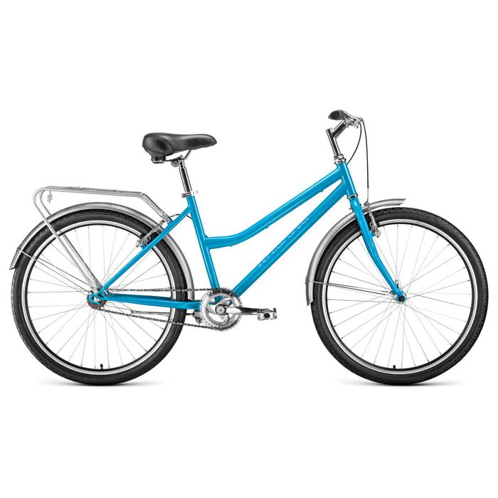 """Велосипед 26"""" Forward Barcelona 1.0, 2020, цвет голубой, размер 17"""""""