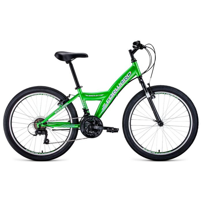 """Велосипед 24"""" Forward Dakota 24 1.0, 2020, цвет зелёный/белый, размер 13"""""""