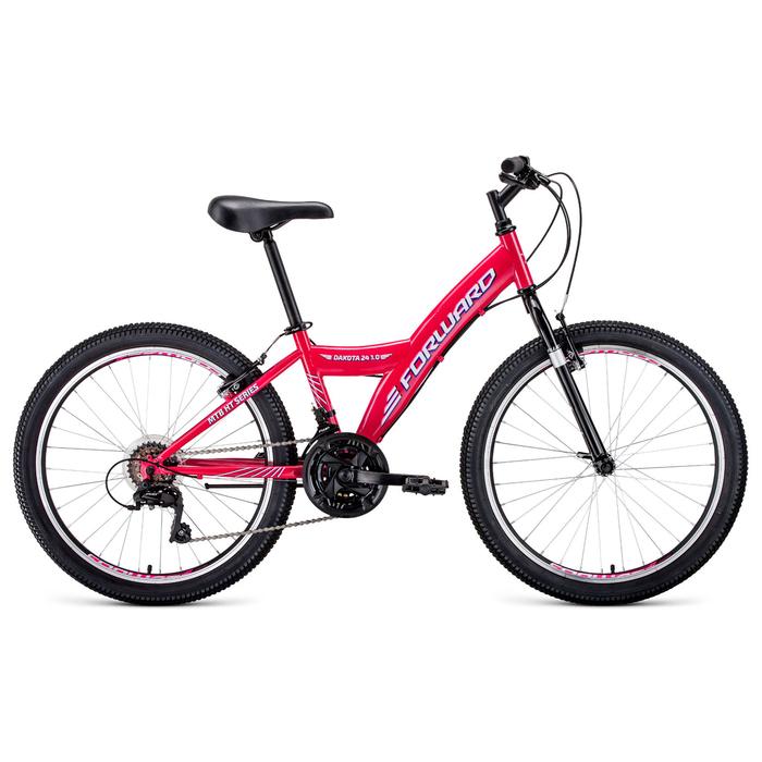 """Велосипед 24"""" Forward Dakota 24 1.0, 2020, цвет розовый/белый, размер 13"""""""