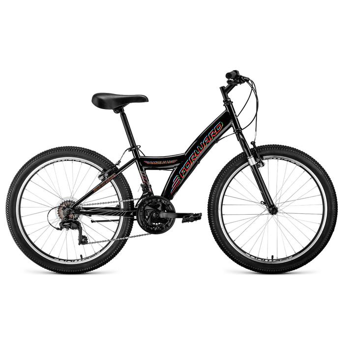 """Велосипед 24"""" Forward Dakota 24 1.0, 2020, цвет чёрный, размер 13"""