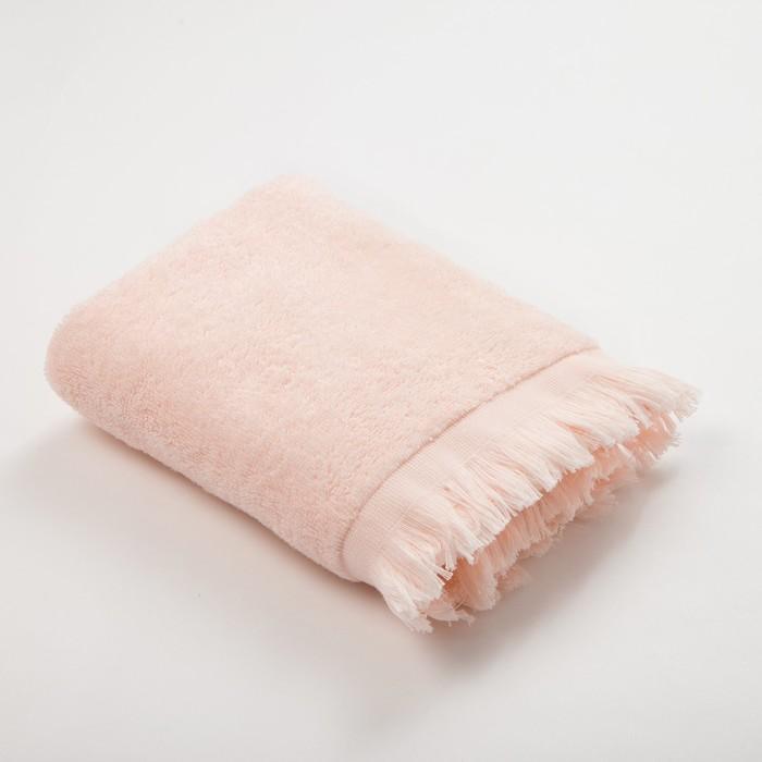 Полотенце махровое Love Life Fringe 70*130 персиковый, 100% хлопок, 360 г/м2