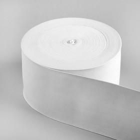 Лента эластичная, 100 мм, 25 м, цвет белый