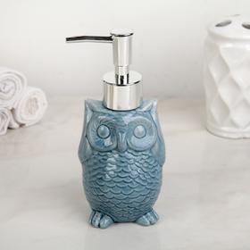 Дозатор для жидкого мыла «Совушка», 250 мл, цвет синий