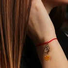 "Charm bracelet ""the Red thread. Gemini"" pendant, amber"