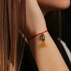 "Charm bracelet ""the Red thread. Libra"" pendant, amber"